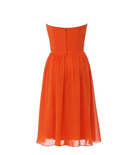 YiYaDawn Kurzes Partykleid Ballkleid mit Pailletten für Damen Orange
