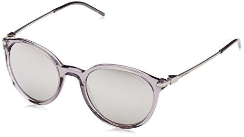 Emporio Armani Unisex EA4050 Sonnenbrille, Grau (transparent Grey 53826G), Medium (Herstellergröße: 50)