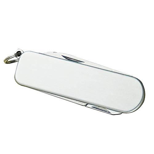 Nagel Knipser, mit Schlüsselanhänger Edelstahl Schere Multifunktional Faltbar Tragbar Leicht Schneider Praktische Feile Maniküre Pediküre Einfach - Silbern