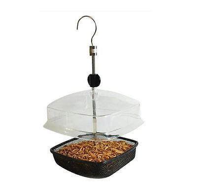 Hanging Mealworm Feeder Adjustable Roof Bird Feeder Birds Watcher Garden Tree from a2z-discounts