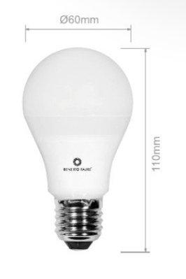 PL T40 10W E27 220V 360º LED de Beneito Faure - Blanco natural, E27,