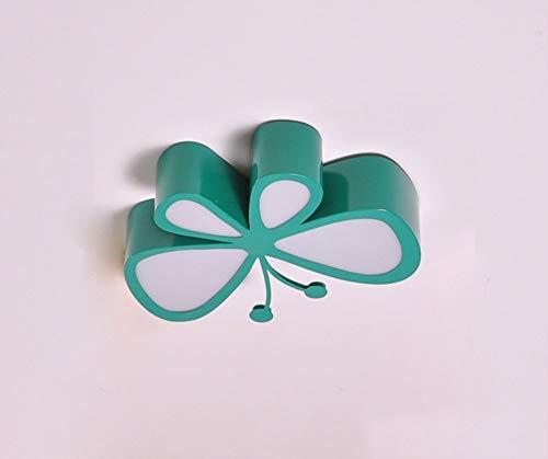 Einfach die Kreativen Schmetterling LED Bügeleisen Schlafzimmer romantisches Schlafzimmer Kinderzimmer Decke kreative Lampen (Farbe: Grün-45-cm) -