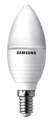 Von Samsung Led-glühbirne (Samsung LED Kerze E14 2700K Essential 5,2 W, 25 W, 300lm, dimmbar - frost SI-A8 W052180EU)
