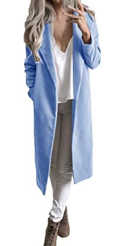 Parker Damen Frühling Herbst Lang Mantel Elegant Classic Normallacks Longsleeve Trenchcoat Fashion...