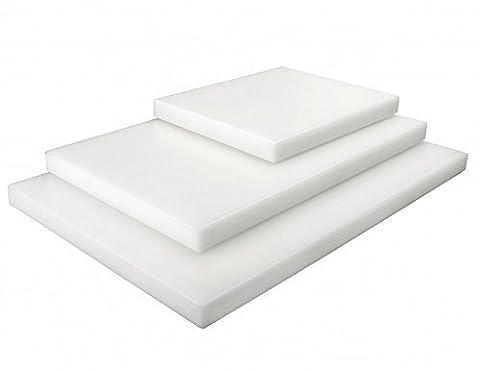 Professionnel Planche à découper blanc Polyéthylène GN 1/2 20mm puissant Plastique PE Planche Gastro Qualité