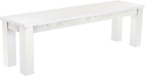Brasil Meubles Banc 'Rio Classico' 150 cm, Pin Massif, Coloris Blanc
