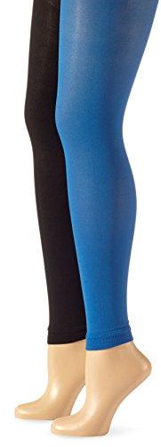 belly cloud Damen Legging 2-er Pack, Belly Cloud Leggin 70den, Gr. 40/42 (L), Blau (royalblau)