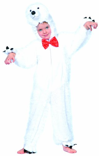 Wilbers Federbein Junior Polar Bär Kinder Kostüm - Polar Bär Baby Kostüm