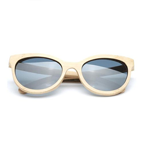 Z&YQ Sonnenbrille Vintage Wooden Frame Bambus Unisex Männer Frauen UV Eyewear polarisierte Spiegellinse , natural colors of bamboo