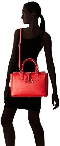 Chicca Borse 80048, Borsa a Tracolla Donna, 40 x 18 x 27 cm (W x H x L) Rosso