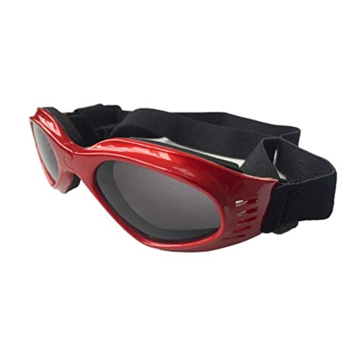 Haolv Welpen-Sonnenbrillen Winddichter Schutz Doggles Dog Goggles Stylish Doggie,Red