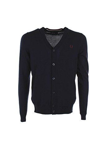 Cardigan Uomo Fred Perry XS Blu Fp-k7212-13 Autunno Inverno 2015/16