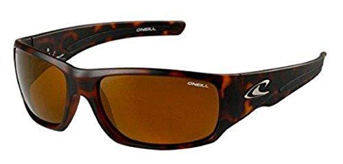 O'Neill Men's Sport Polarized Oval Sunglasses, Tortoise Shell, 63 mm