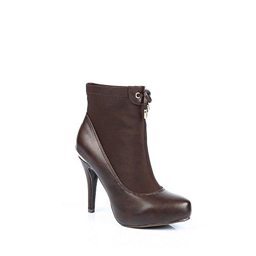 Sapatos Ideais - Inicialização Do Tornozelo Bi-material Com Alguma Elasticidade E A Placa Traseira Métalisée Nadina Castanho -