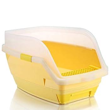 Wcx Rotin Toilette Chat,Toilette Animaux Chats Loo Jante Type De Tiroir Ouvrir 580 * 380 * 350MM (Couleur : Le Jaune, Taille : 580 * 380 * 350mm)