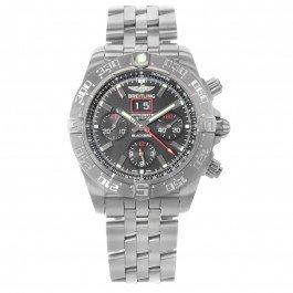 Breitling Men's BTA4436010-BB71SS Chronomat Blackbird Analog Display Swiss Automatic Silver Watch