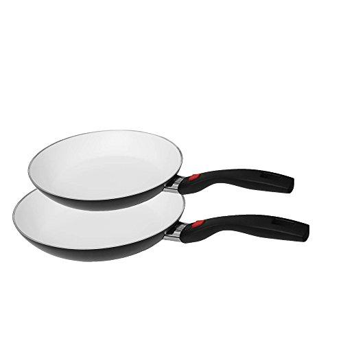 Ballarini Click & Cook Keramik Pfannenset 2 teilig - Bestehend aus 2 Bratpfannen 24 cm + 28 cm -...