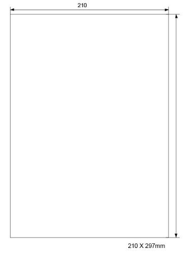 Universal Etiketten Aufkleber 100 Blatt 210 * 297 mm Etiketten A4 Selbstklebend 100 Etiketten Aufkleber - Geeignet für Laser/Inkjet/Kopierer einsetzbar