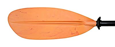 H2o Elite Flame Asymmetrical Kayak Paddle 220cm Orange Fibre carbon/glass Shaft by H2o Kayaks
