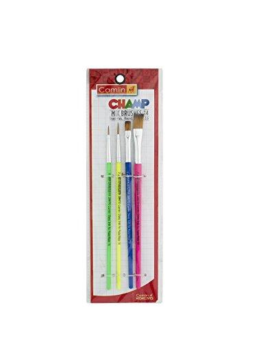 Camlin Champ Brush Set - Pack of 4 (Multicolor)