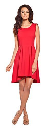 Lemoniade extravagantes Sommerkleid mit ausgefallenem Schnitt Made in EU (M (38), Modell 4 Rot)
