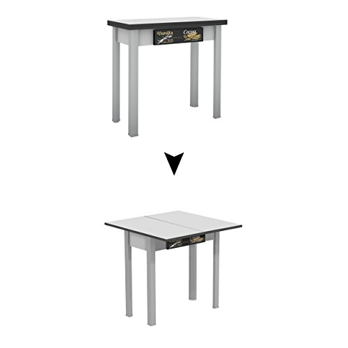 Mesa de madera Suarez Caye II, 1 unidad, color plata, dimensiones 40 x 80 x 77,3 cm (H226-VNC)