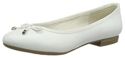 Marco Tozzi Damen 22137 Geschlossene Ballerinas, Weiß (White 100), 40 EU