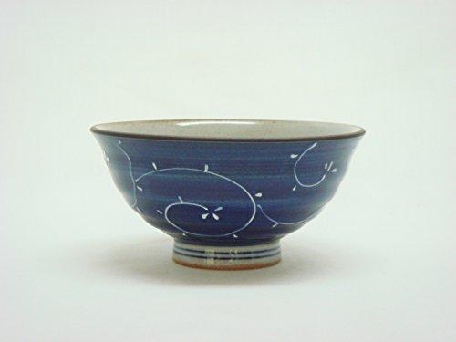 Tateyama-Do Hasami Vaisselle Japonaise Bol à Riz Grand '' Karakusa 'fabriqué au Japon DSCO3247
