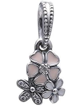 Pandora Damen-Charm Malerische Blüten Anhänger 925 Silber Zirkonia pink-791824ENMX