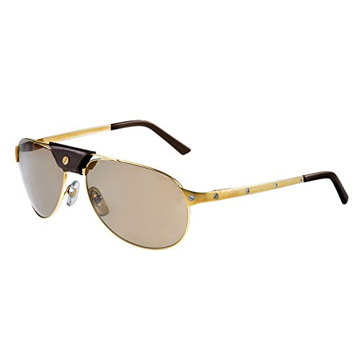 cartier-santos-de-cartier-t8200889-aviateur-metal-homme-satin-matte-gold-brown-polarizedt8200889-61-