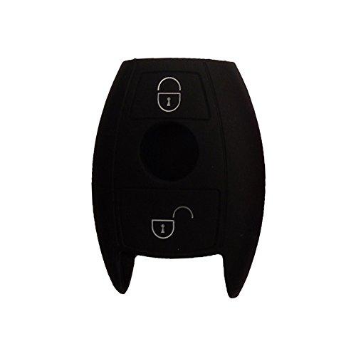 Nicky funda protectora para Benz 2-buttons llave de coche sin llave–silicona teclas...