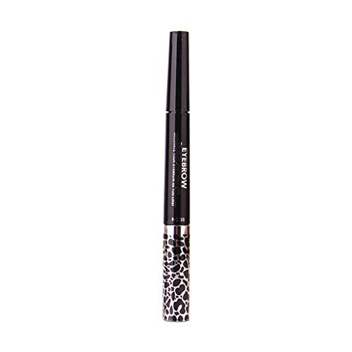 Supertong Damen Wasserdichter Liquid Eyeliner 2 in 1 Make-up Pinsel Eyeliner Set Augenbrauenpinsel Mascara -