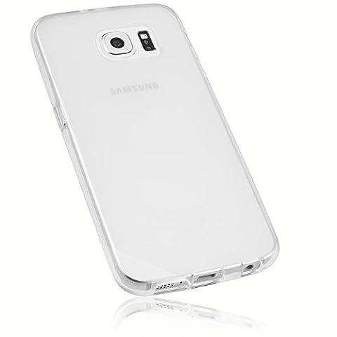 mumbi Schutzhülle für Samsung Galaxy S6 / S6 Duos Hülle transparent weiss (Slim - 1.2 mm)