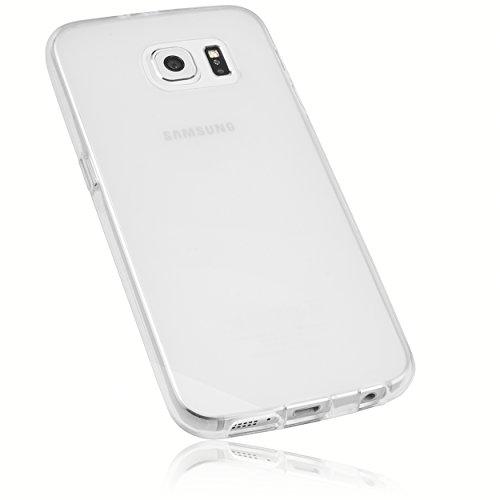 mumbi Schutzhülle Samsung Galaxy S6 / S6 Duos Hülle transparent weiss (Slim - 1.2 mm)