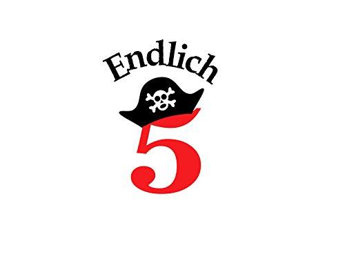 r Geburtstag Birthday Pirat Pirate Hut Cap Zahl in Flex, Glitzer, Flock, Effekt in Wunschgröße ()