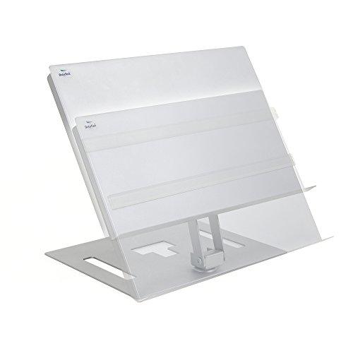 Dataflex Portadocumentos altura ajustable con guía de página - Archivador (Plata, 374 mm, 410 mm, 310 mm, 85 mm, 375 x 265 x 340 mm)