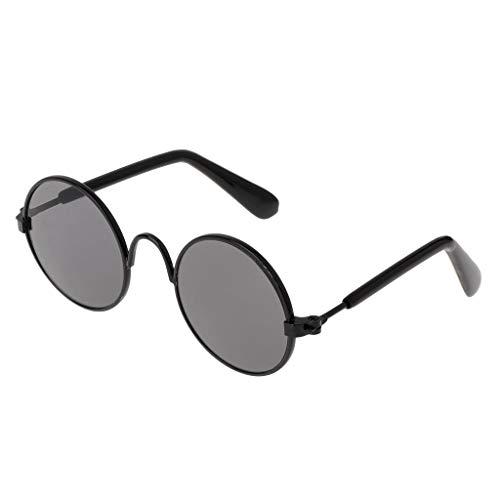 JAGETRADE Pet Brille Kostüm Sonnenbrille Runde Lustige Mode Requisiten Hund Katze Versorgung Produkte Schwarz Schwarz Objektiv