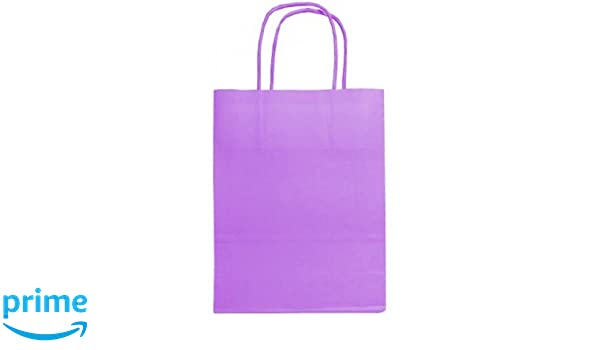 953808157 50 x Purple Twisted Handle Paper Bags, 18cm wide, A5: Amazon.co.uk: Kitchen  & Home