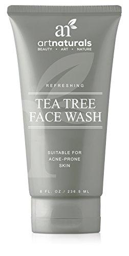 Se laver le visage ArtNaturals Tea Tree - 236ml - Aide à guérir et prévenir les ruptures, l'acné et l'irritation de la peau - Thé vert, huile essentielle d'arbre à thé et Aloe Vera