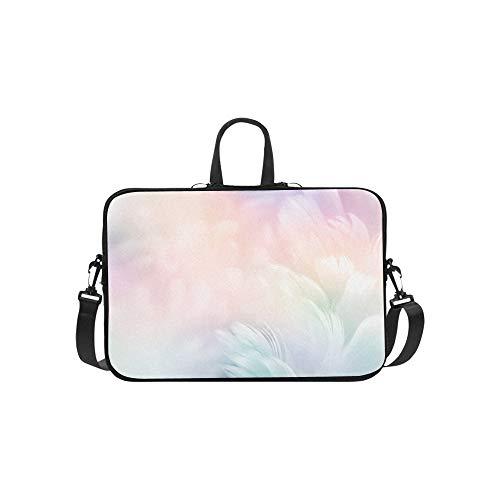 Abstrakte Feder Regenbogen Patchwork Muster Aktenkoffer Laptoptasche Messenger Schulter Arbeitstasche Crossbody Handtasche für Geschäftsreisen