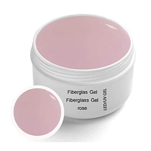 Gel UV per LED in fibra di vetro ROSE trasparente 30 ml - Fibra di vetro UV-LED monofase in gel trasparente rose