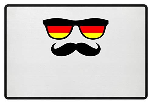 Deutschland Sonnenbrille Fußball Schnäuzer Bart - Schlichtes Und Witziges Design - Fußmatte