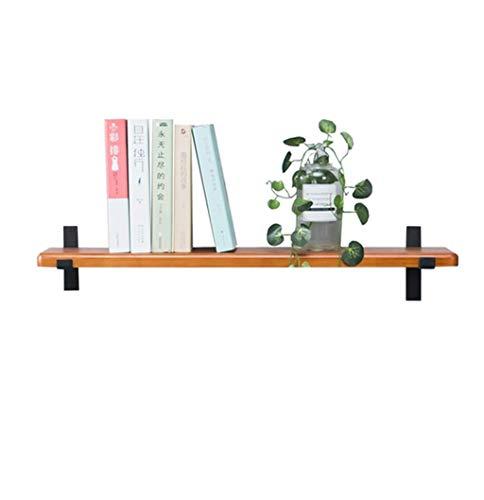 DFFS Display Rack Mount Wand-Schiene aus Metall Clamp aus Holz Bar Wohnzimmer hängen schwarz Regal Rack dekorative Regal (Größen: 80x20x3cm) -
