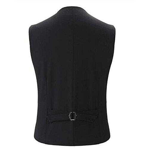 DPCER. Classico Affari Maglia Del Vestito Degli Uomini Di Fascia Alta Moda Giubbotto V Vestito Collo Gray