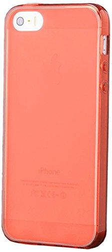 iCues Apple iPhone SE / 5S / 5 |  TPU Matt Case Orange | [Display Schutzfolie Inklusive] Transparent Klarsichthülle Durchsichtig Klare Klarsicht Silikon Gel Schutzhülle Hülle Cover Schutz