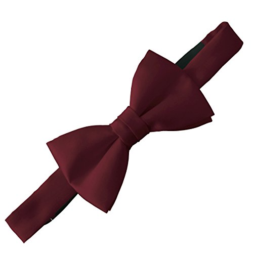 Nœud papillon en satin - Style Doctor Who - Bordeaux