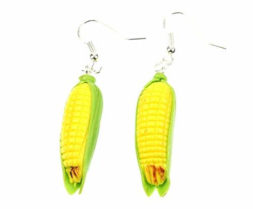 Mais Maiskolben Ohrringe Hänger Miniblings Gemüse Corn Maisfeld Kawaii gelb