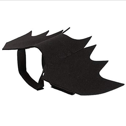 WENXX Hund Kostüm Halloween, Schicke Hundekleidung, Lustige Haustier Fledermausflügel Kleid Erstaunliche Kostüm, Fledermaus Verwandeln Kleid, Schwarz, S, M, L,L