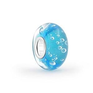 Bling Jewelry Blue Bubble Murano Glas Die Bead Charms Silber Distanzstück Passt Europäischen Charme Armbänd Für Damen Jugendlich
