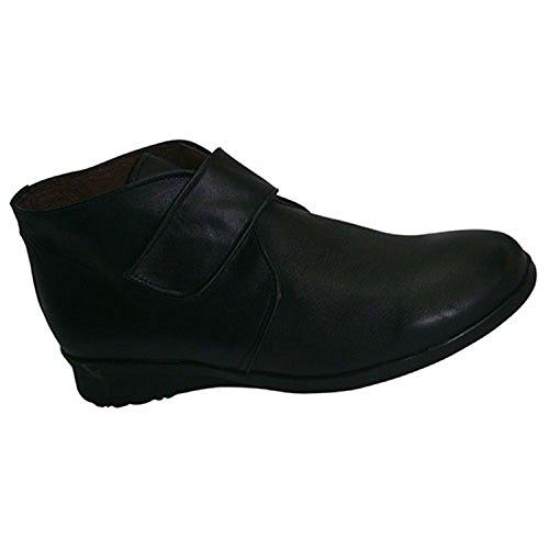 Stiefel mit Klettverschluss Gummiboden El Corzo schwarz Schwarz